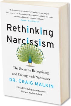 Book cover image: Rethinking Narcissism