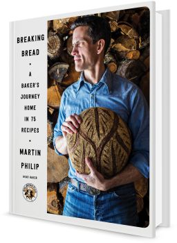 Book cover image: Breaking Bread: A Baker's Journey Home in 75 Recipes