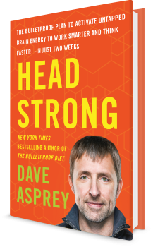 Book cover image: Head Strong: The Bulletproof Plan to Activate Untapped Brain Energy to Work Smarter and Think Faster—in Just Two Weeks | New York Times Bestseller | Wall Street Journal Bestseller | USA Today Bestseller