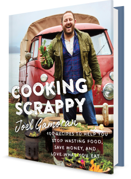 Book cover image: Cooking Scrappy